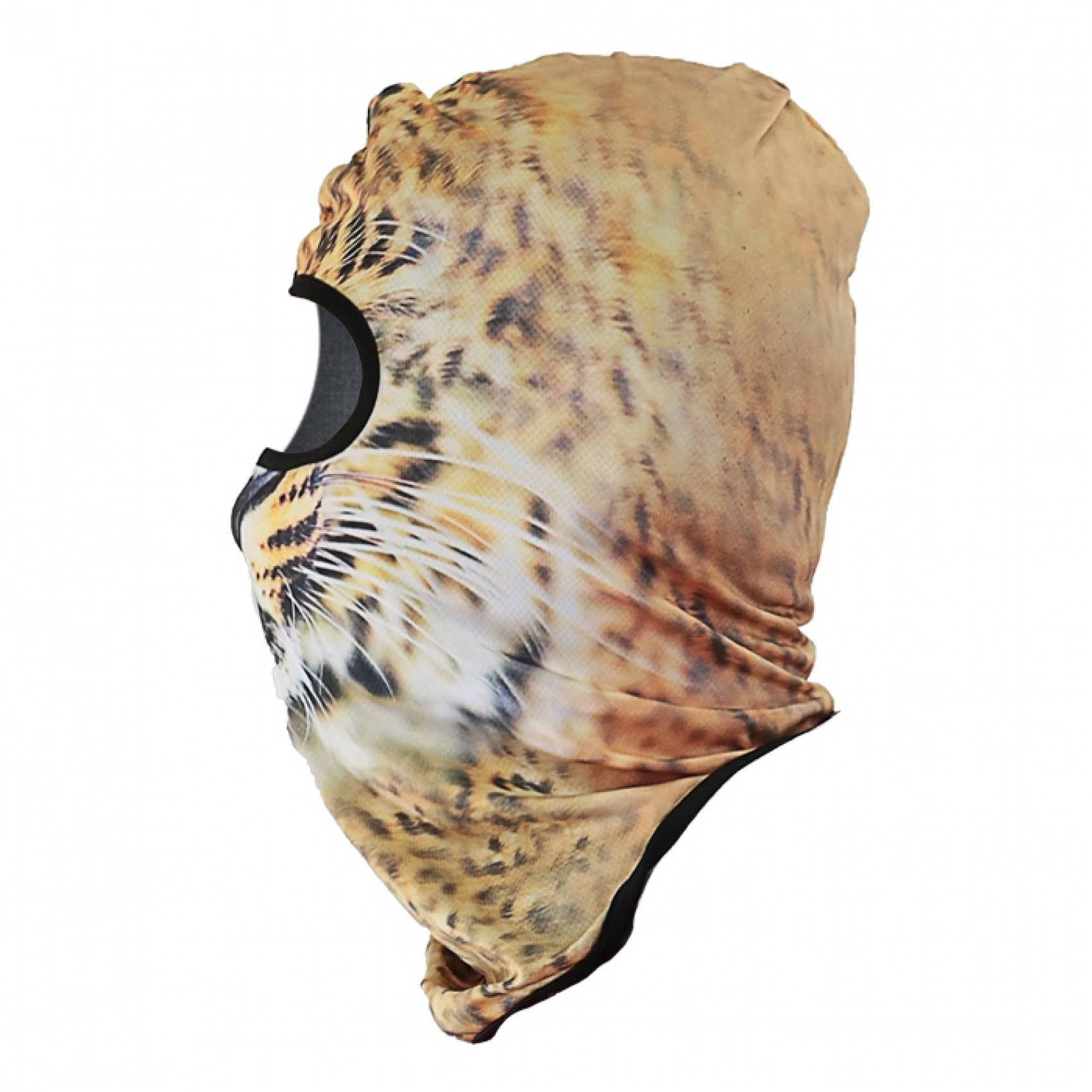 Tiger Face Design Full Face Mask - Orange