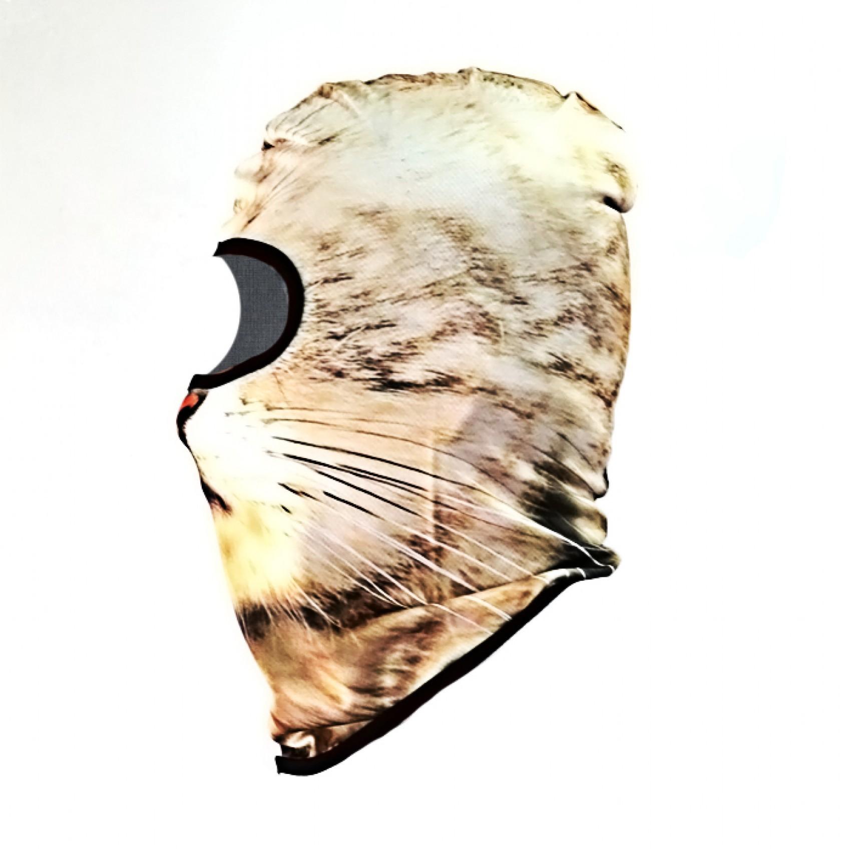 Cat Face Design Full Face Mask - Yellow