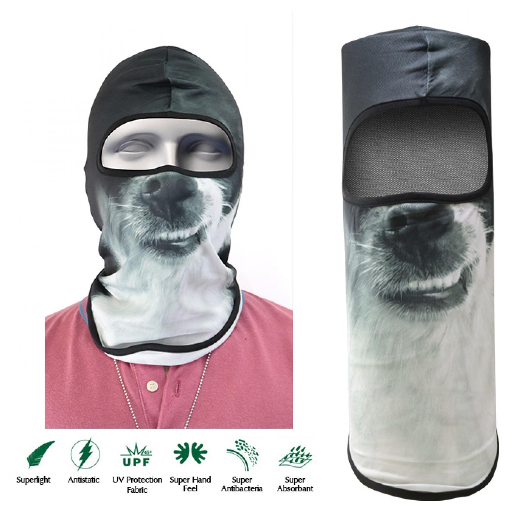 Dog Face Design Full Face Mask - Gray