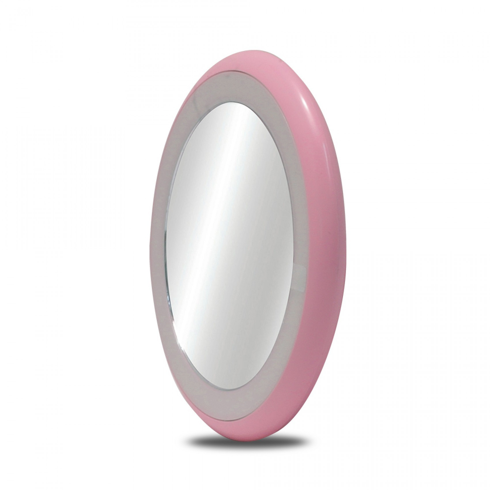Portable Led Makeup Vanity Mirror With Lamp - Pink