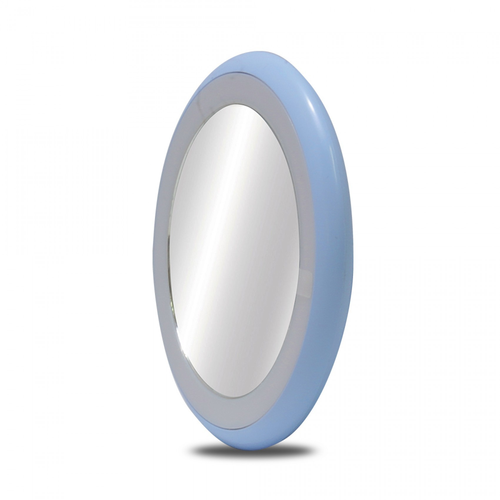 Portable Led Makeup Vanity Mirror With Lamp - Blue