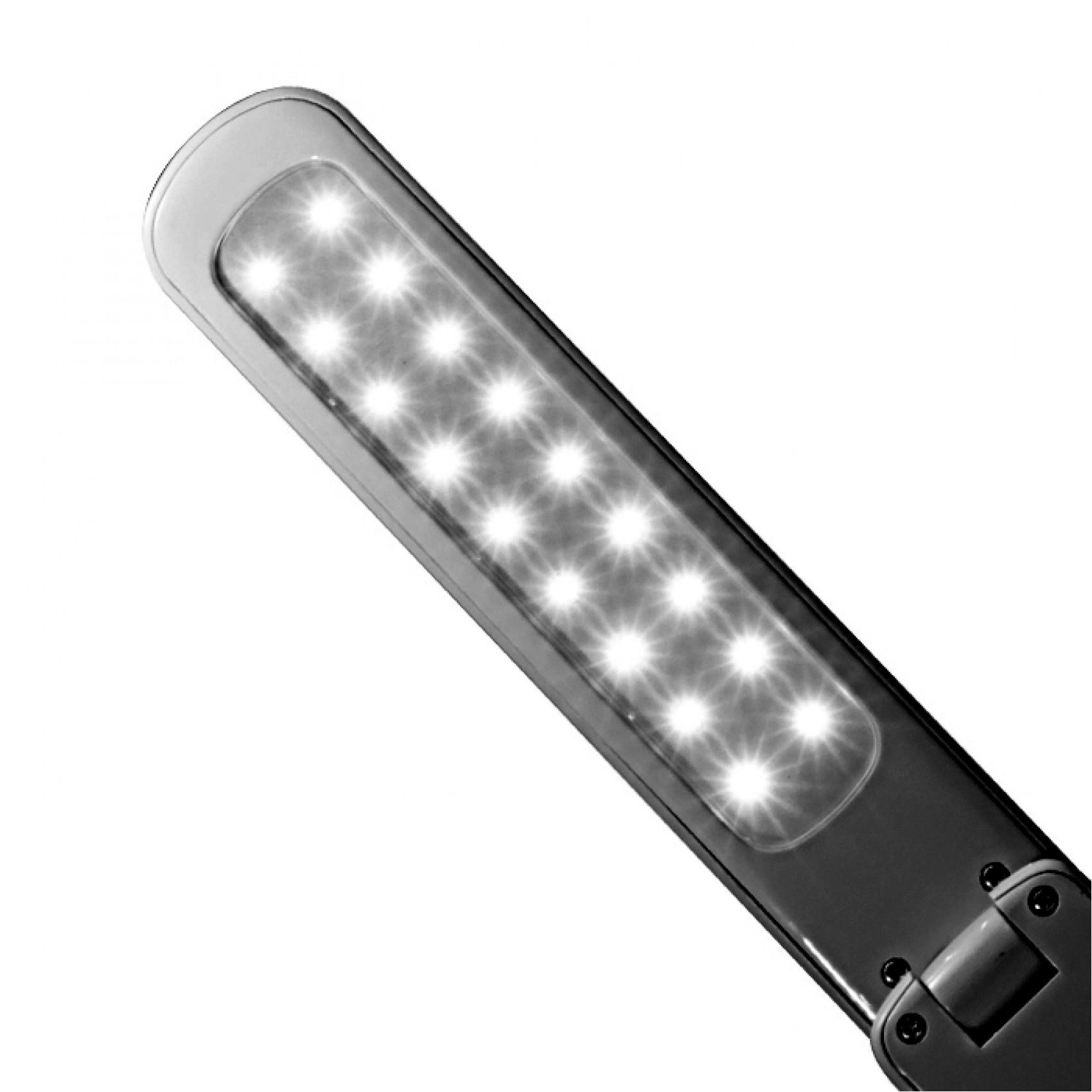 LED Desk Lamp Stable Light Source Strobe - Black
