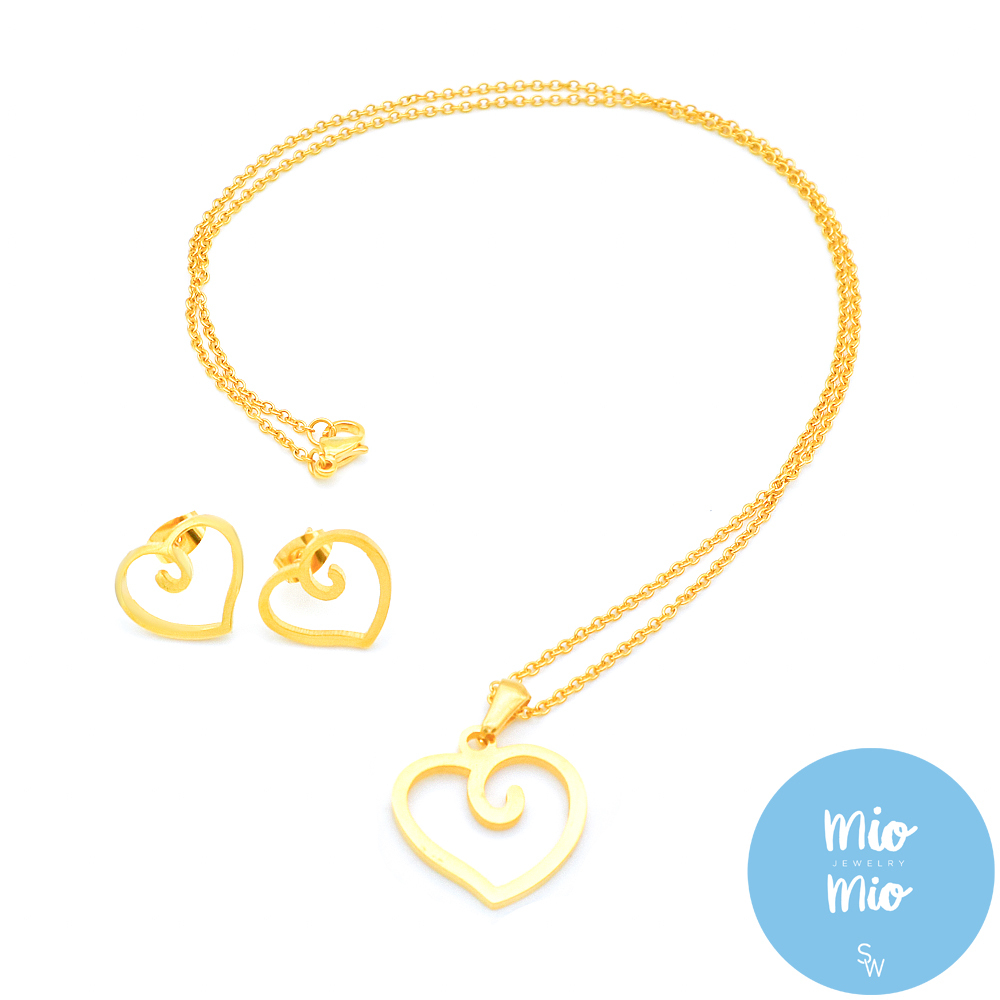 X3923 Gold Swirl Cutout Heart Set