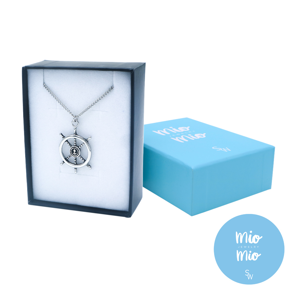 X3884 Ship Wheel with Chain Necklace
