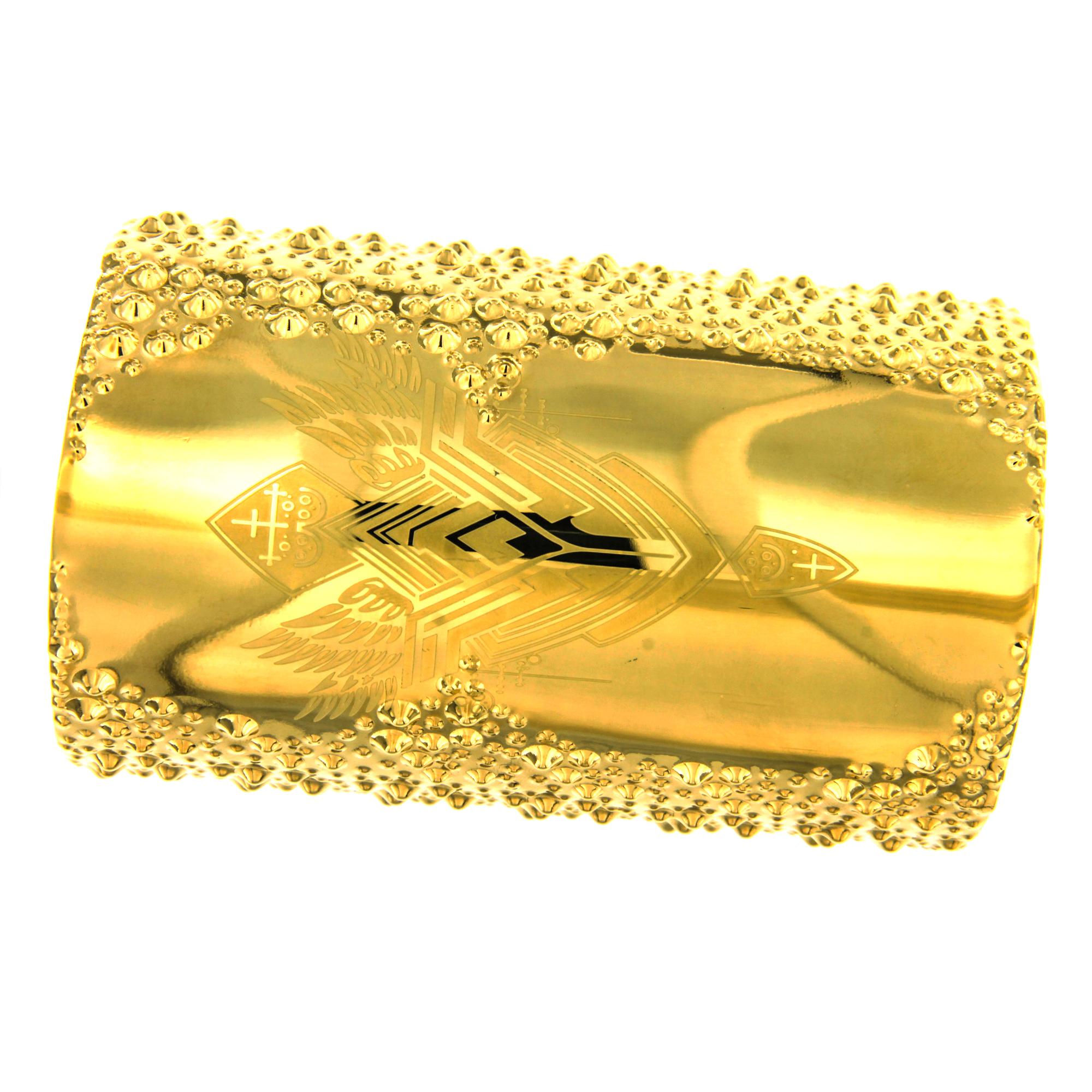 Silverworks X2950 GOLD BIG WIDE WW ARM CUFF