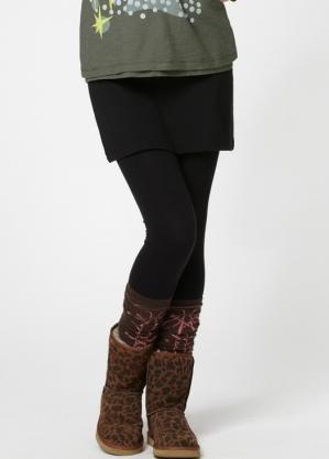 Technology Wool two skirt + pants - 12553X (BLACK)