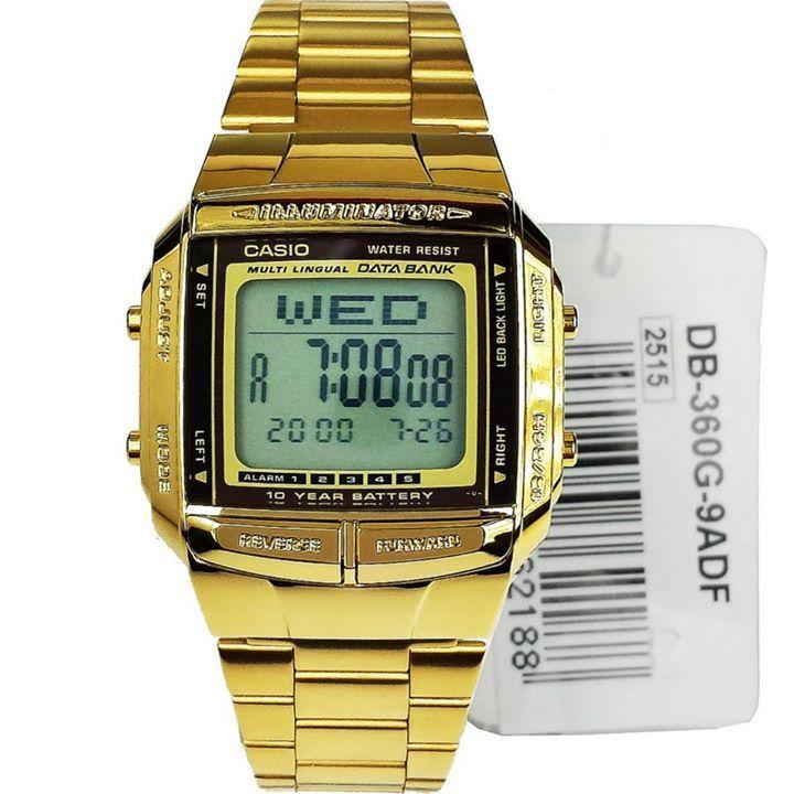 Casio Digital Watch DB-360G-9A DB360G 9A (Gold)