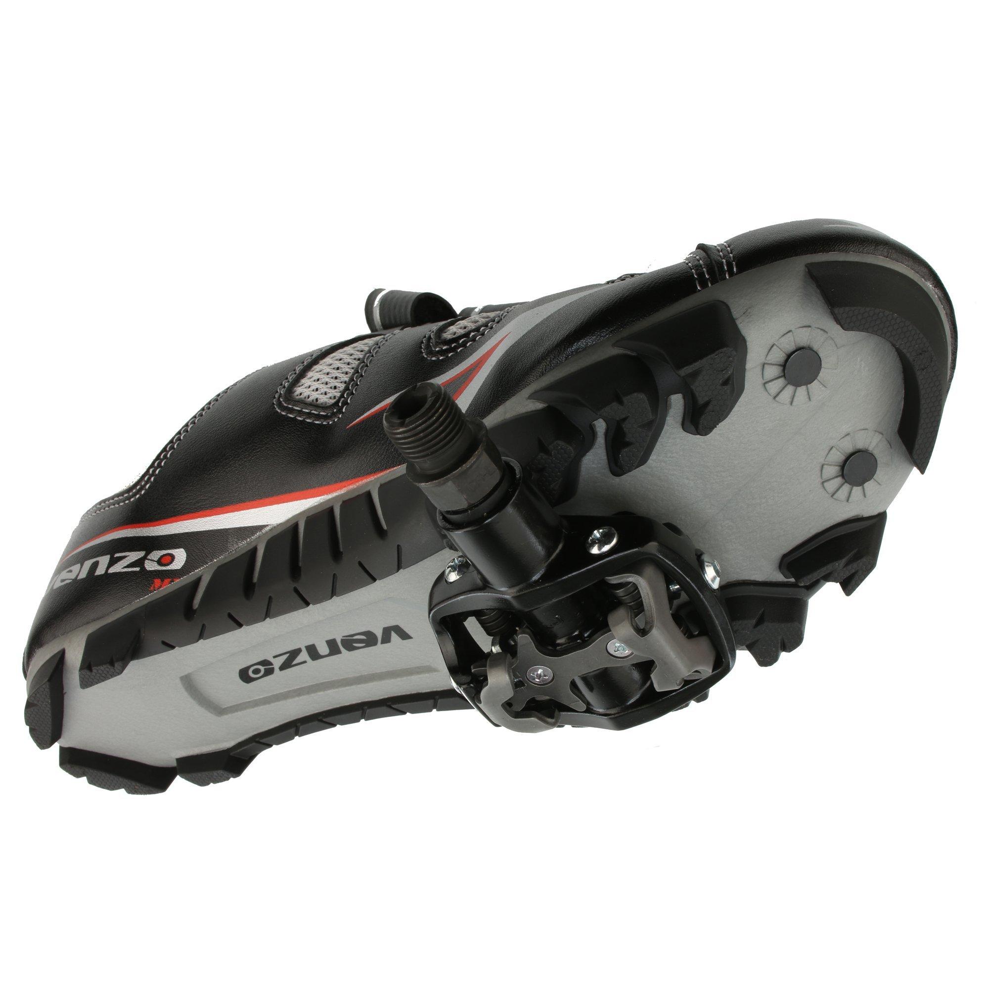 Venzo Mountain Bike Bicycle Cycling Shimano Spd Women S Shoes Black