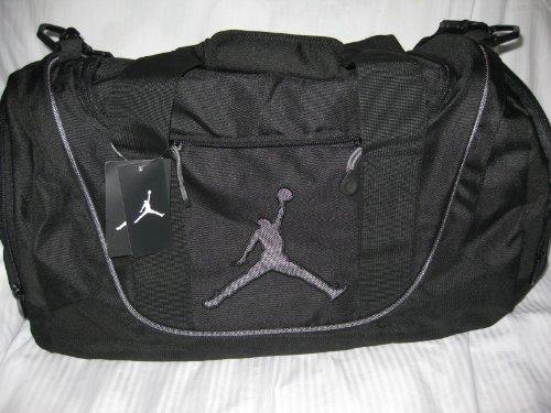 Nike Air Jordan Duffel Gym Bag Basketball Tote Black Pink Travel Duffle Gray