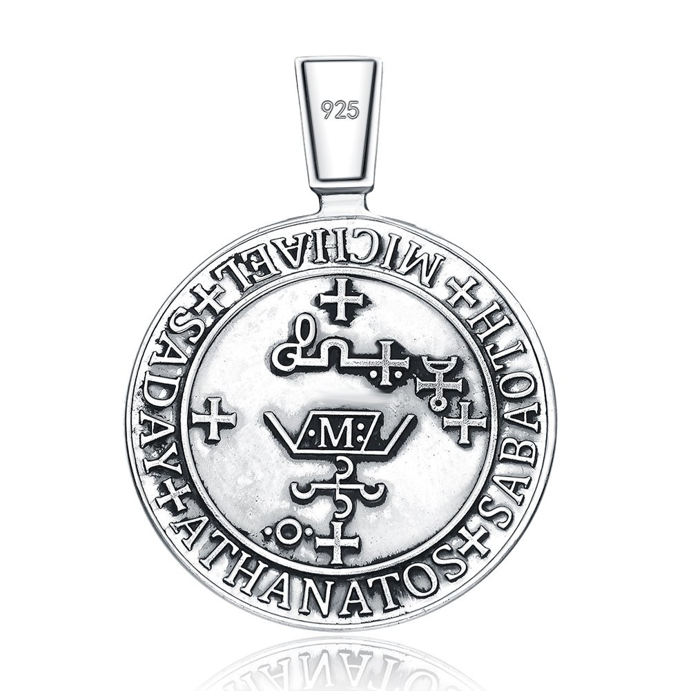 Stmichael seal protection medal christian talisman sterling 925 archangel stmichael seal protection medal christian talisman sterling 925 silver pendant necklace aloadofball Image collections