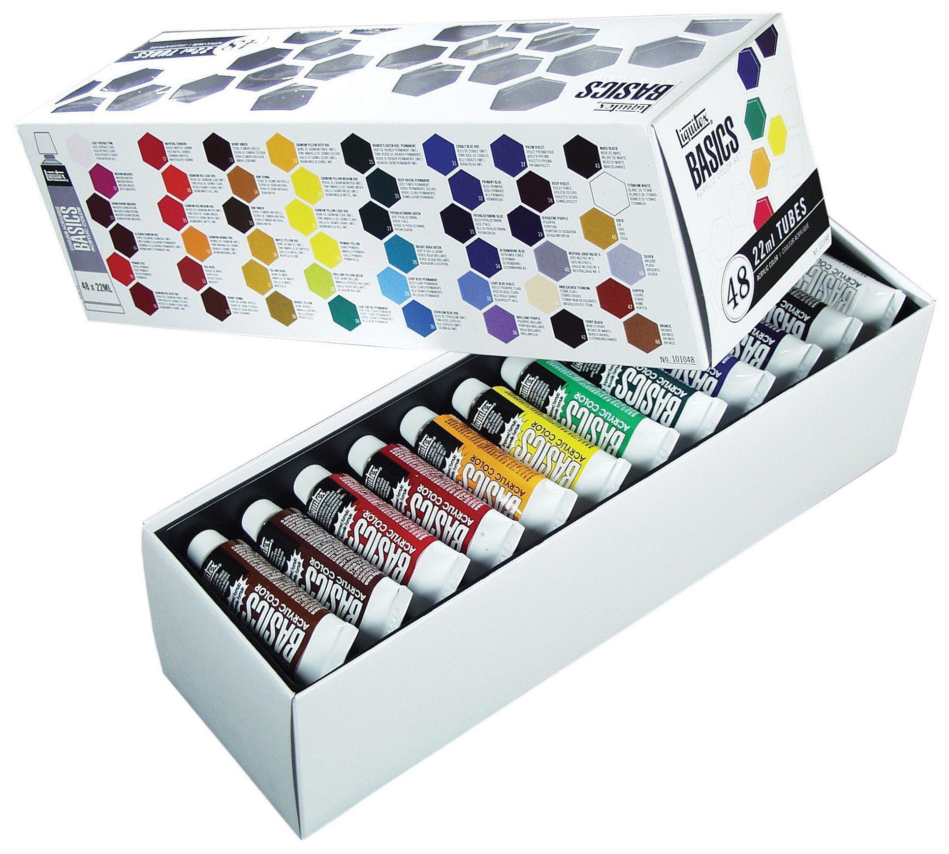Basics acrylic paint tube 48 piece set liquitex basics acrylic paint tube 48 piece set nvjuhfo Image collections