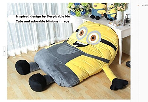Funny Despicable Me Minions Sleeping Bag Sofa Bed Twin Double Mattress For Kids Ship By