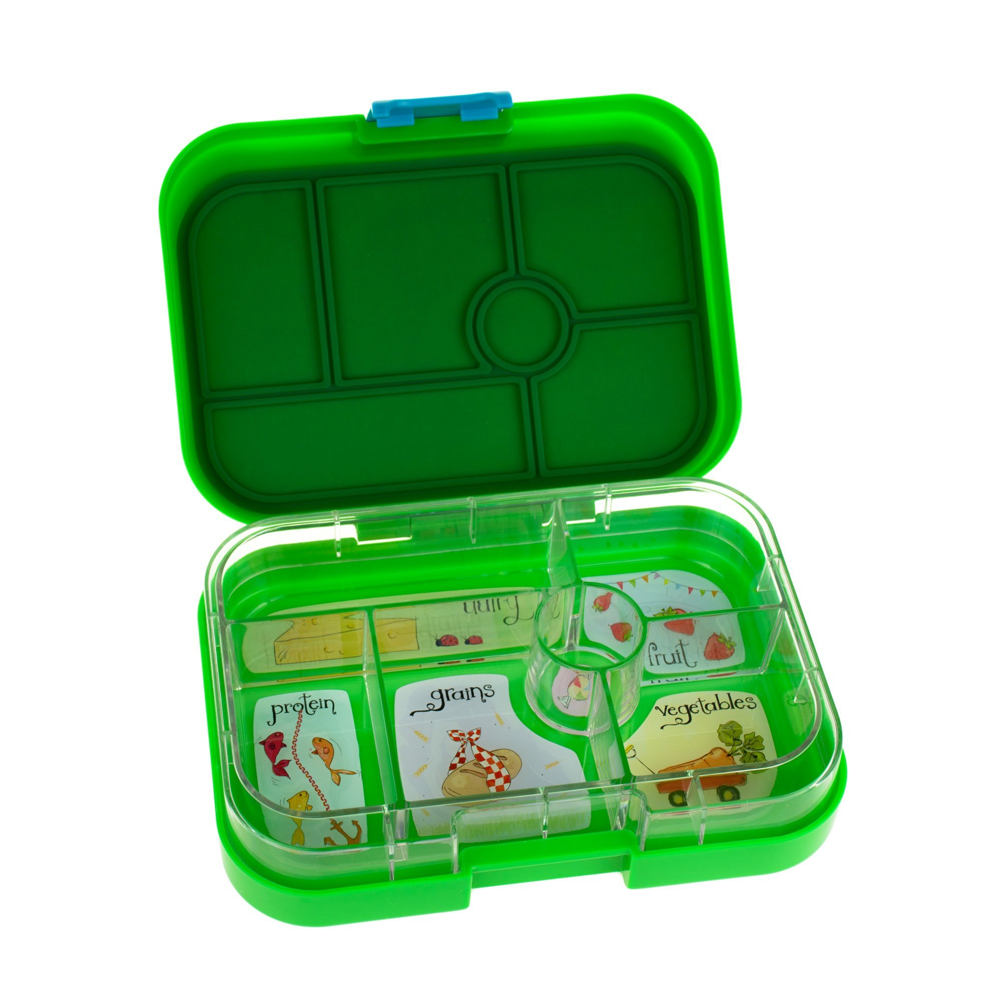 yumbox pomme green leakproof bento lunch box container for kids. Black Bedroom Furniture Sets. Home Design Ideas