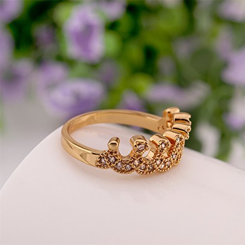 Wedding Band Series: [Engagement Ring Series] Wawoo Queen Crown Style Plated