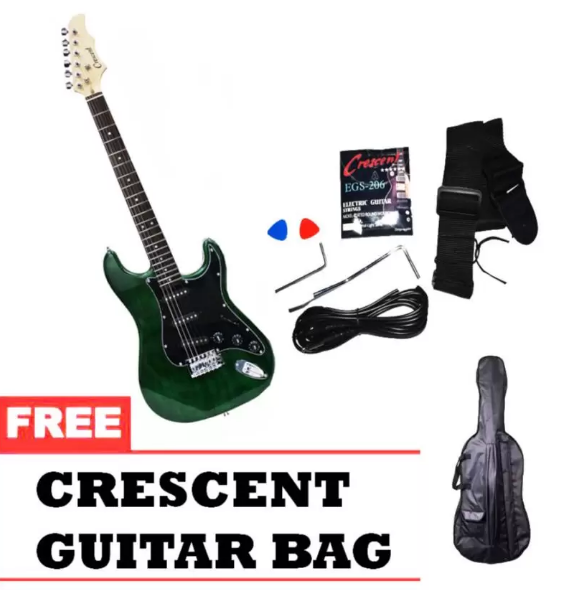 Crescent Electric Guitar (Green)