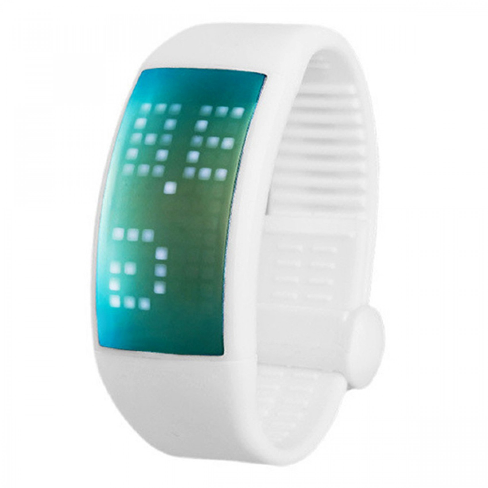 PERSONALIZED SIGNATURE 3D PEDOMETER SMART WATCH - WHITE