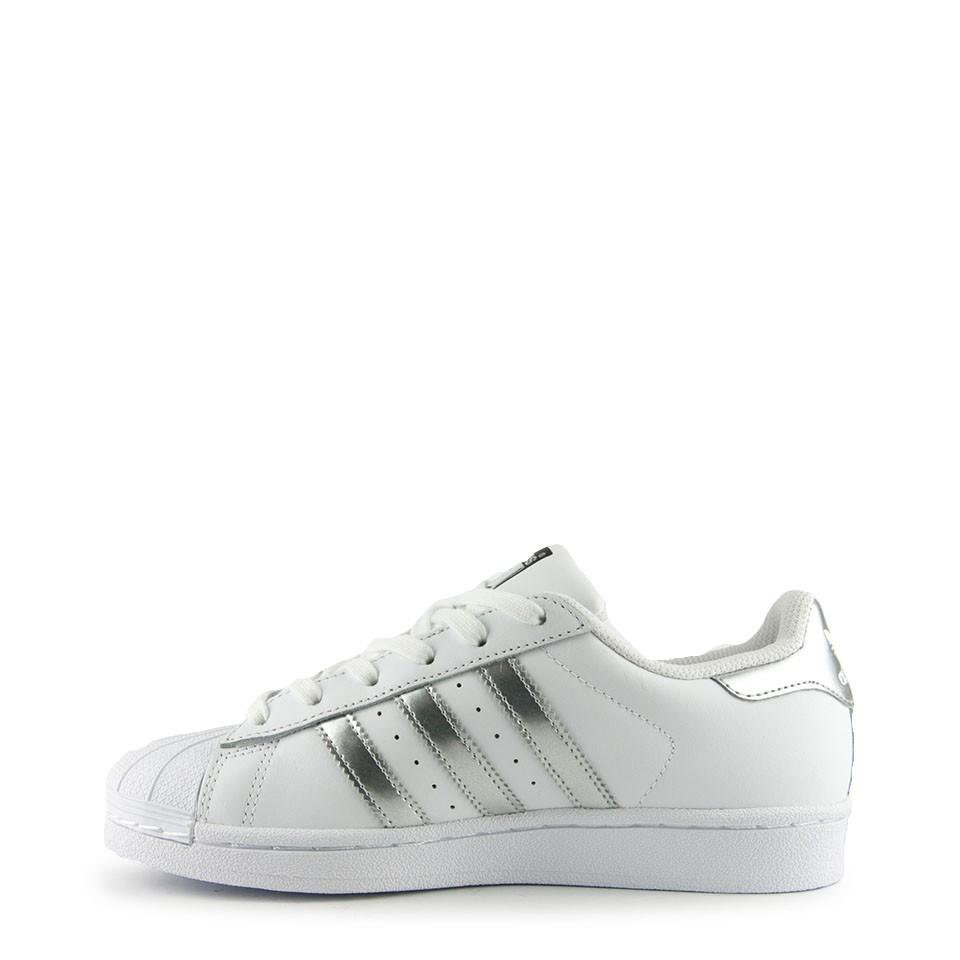 adidas superstar dames wit zilver