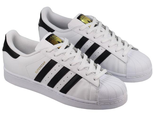 black white adidas superstar