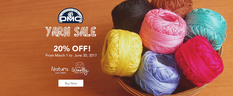 DMC Creative World 20% OFF on all Natura Cotton Yarn