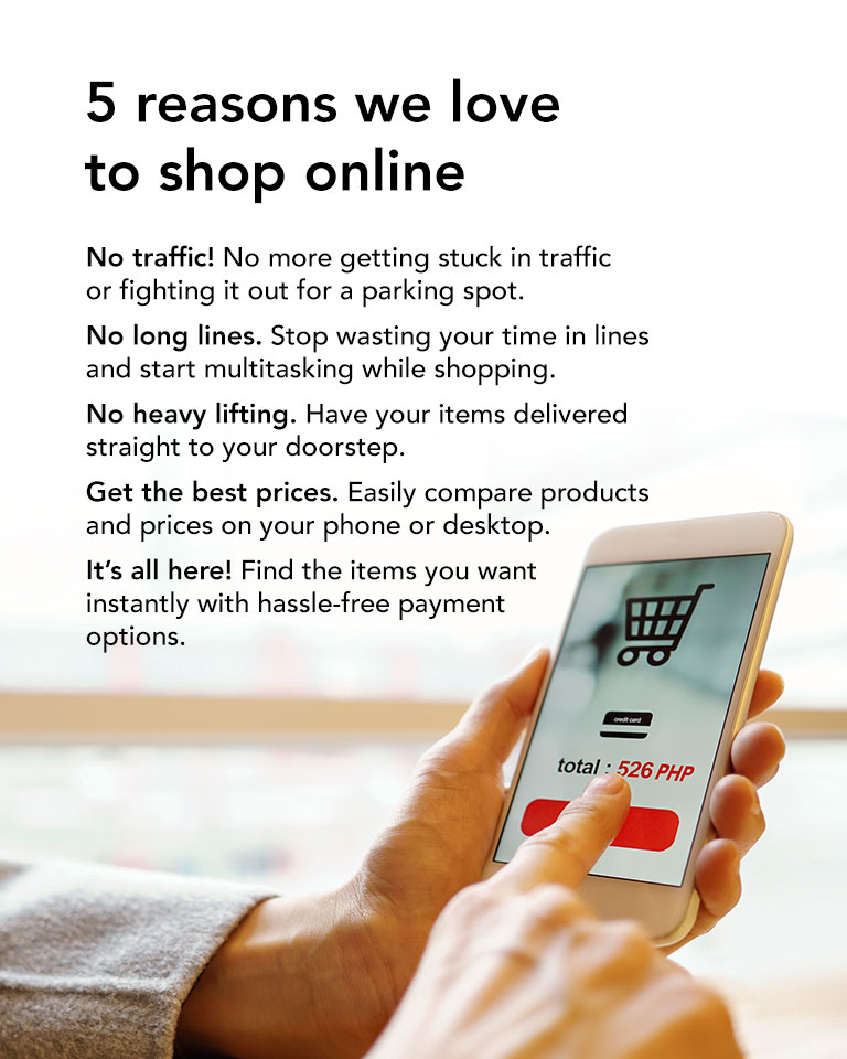 5 reasons why we love to shop online