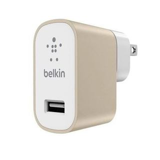 SINGLE MICRO WALL CHARGER,UNIVERSAL,5V,2.4A,GOLD