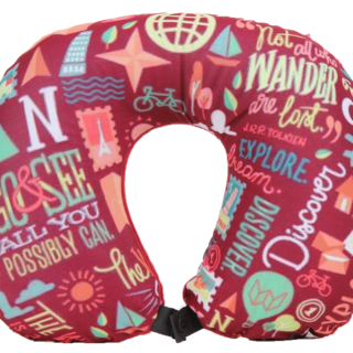 WANDERSKYE QUOTE GURU NECK PILLOW