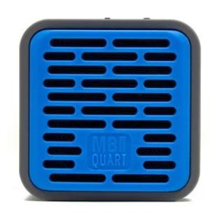 Qub One Bluetooth Speaker (Blue) plus Boompods Headpods (Wired)