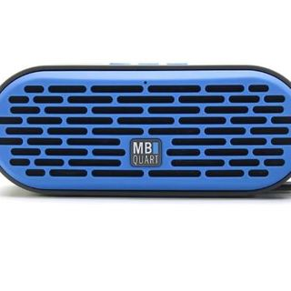 Qub Three Bluetooth Speaker (Blue) plus Boompods Headpods (Wired)