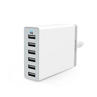 Anker PowerPort 6 60W 6-Port USB Charger for US (White)