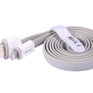 MILI 8-Pin Flat Apple Lightning Cable (Grey)