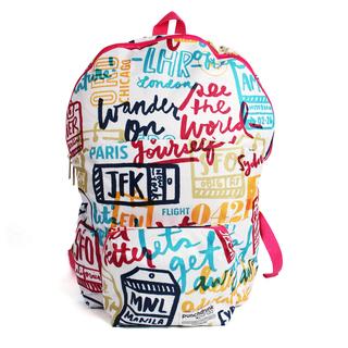 Wander On blue Foldable Backpack
