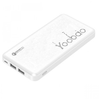 Yoobao PL12QC 12000 mah Lithium Polymer Powerbank with Qualcomm Quick Charge Port - White