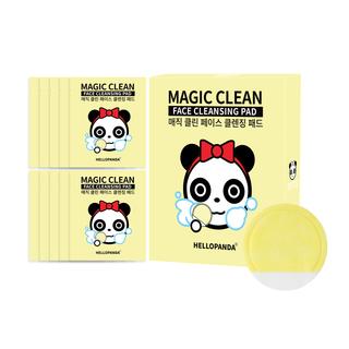 HELLOPANDA MAGIC CLEAN FACE CLEANSING PAD (NATURAL 10PCS/BOX)