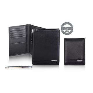 CROSS CLASSIC CENTURY GLOBAL PASSPORT WALLET WITH CROSS METAL AGENDA PEN AND ADDITIONAL FOLDED CARD CASE