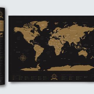 Mystiq Wonders of the World Travel Scratch Map