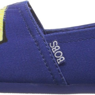 BOBS from Skechers Women's Plush-Paw-Fection Flat, Royal, 8 M US