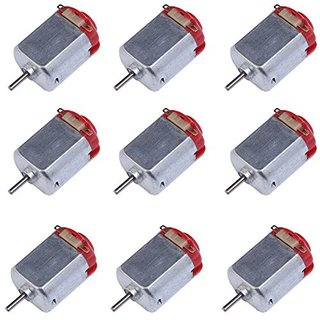 Icstation Type 130 Mini DC Magnetic Electric Motor 3V 16500RPM 2mm Shaft For DIY Toy Model Hobby (Pack of 15)