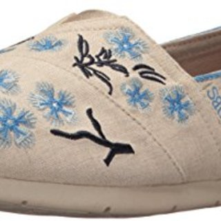 BOBS from Skechers Women's Luxe Cherry Blossom Flat, Natural Cherry Blossom, 5.5 M US