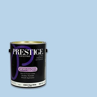 Prestige, Blues and Purples 5 of 8, Exterior Paint and Primer In One, 1-Gallon, Semi-Gloss, Serene Sky