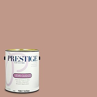 Prestige Paints Interior Paint and Primer In One, 1-Gallon, Semi-Gloss,  Comparable Match of Benjamin Moore Rosedale
