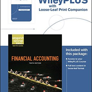 Financial Accounting, 10th Edition WileyPLUS Registration Card + Loose-leaf Print Companion