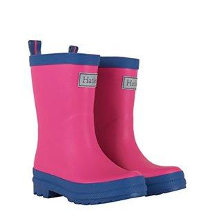 Hatley Big Girls' Rain Boots, Matte Fuchsia/Navy, 1