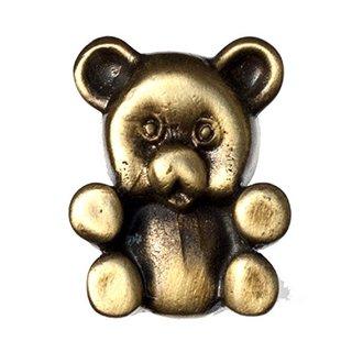 Big Sky Hardware Sierra Lifestyles Teddy Bear Knob, Antique Brass