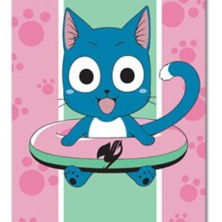 Fairy Tail: Happy Anime Bath Towel