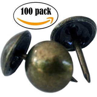 """NDC Upholstery Nails or Tacks 7/16"""" - Antique Bronze Finish - 100 Pack"""