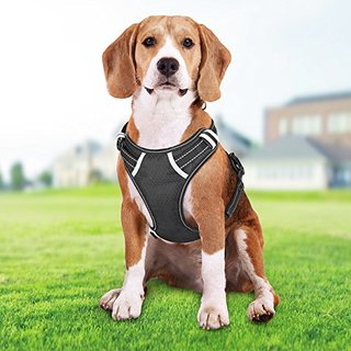 SHINE HAI Front Range Dog Harness, No-Pull Pet Harness, Adjustable Vest Harness 3M Reflective Walking Training Outdoor Adventure, Easy Control for Medium Large Dogs
