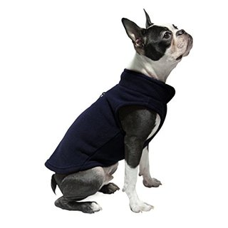 Gooby Every Day Fleece Cold Weather Dog Vest for Small Dogs, Navy, Small