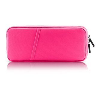 Greartisan Nintendo Switch Case Protective Fabric Soft Case Portable Travel Carry Case Shell Pouch for Nintendo Switch Console & Accessories Pink