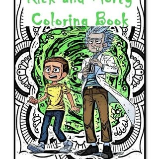 Rick and Morty Coloring Book - Rick and Morty Mandala Coloring Books for Adults Relaxation, Rick and Morty Mandala Coloring Books For Kids