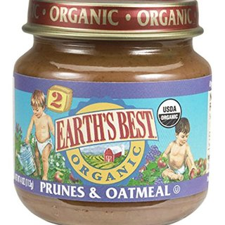 Earth's Best Baby Organic Stage 2 Smoothies, Prunes & Oatmeal, 4 Ounce (Pack of 12)